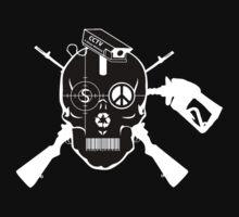 Doom Skull, Beware! On Black Shirt.... by Evan Jones