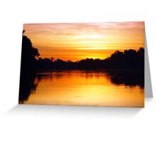 Pantanal Sunset 1 Greeting Card