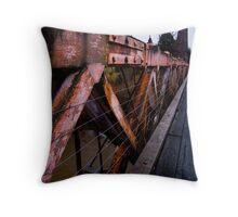 Clifden Suspension Bridge, New Zealand Throw Pillow