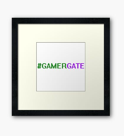 #GamerGate Framed Print