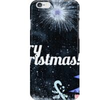 Marry Christmas, outdoor at night iPhone Case/Skin