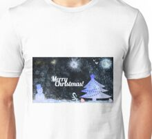Marry Christmas, outdoor at night Unisex T-Shirt
