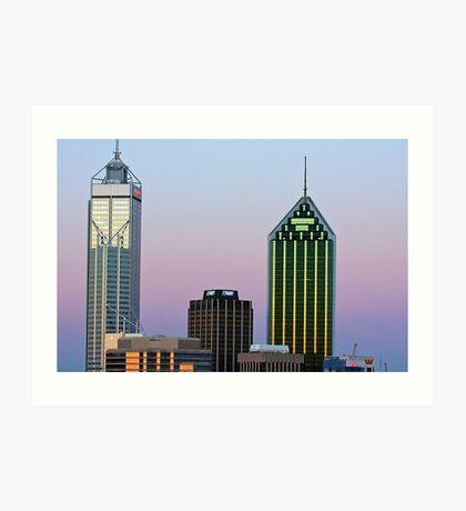 Perth City Towers At Sunset  Art Print