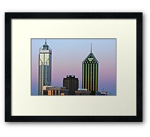 Perth City Towers At Sunset  Framed Print