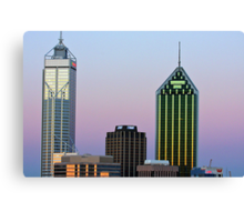 Perth City Towers At Sunset  Canvas Print