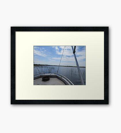 Boat Safari Framed Print