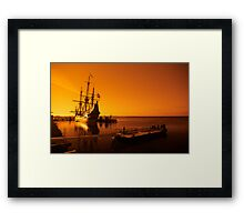 old ship Framed Print