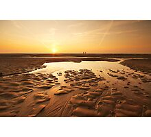 sunset evening on the beach Photographic Print