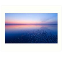 beautiful night at the beach Art Print