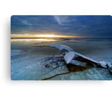 Cold winter landscape Canvas Print