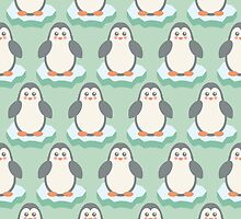 Baby Christmas - Winter Animal - Cute Penguin by PatternPrint