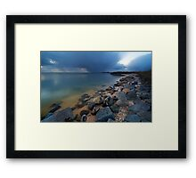Lake at night Framed Print