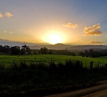 Huonville Valley On Dusk HDR by Ollieography