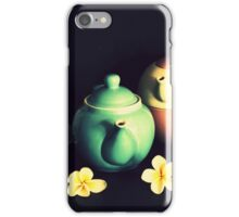 Teapots and Frangipanis iPhone Case/Skin