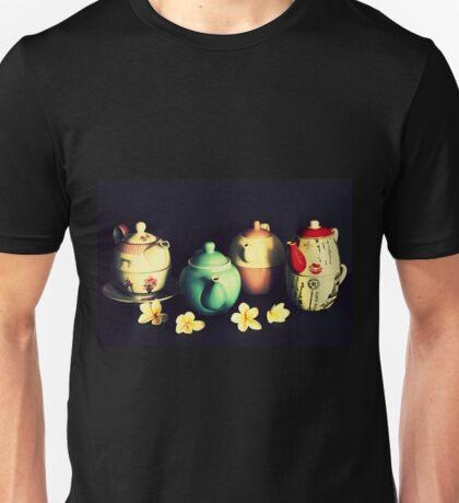 Teapots and Frangipanis Unisex T-Shirt