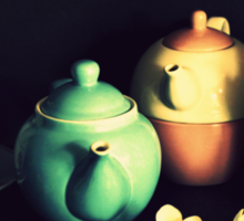 Teapots and Frangipanis Sticker