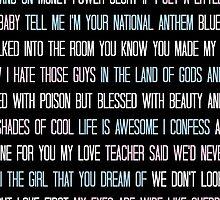 Lana Del Rey Lyrics Overload by TellAVision