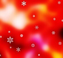 Snowflakes on red background by Viktorcvetkovic