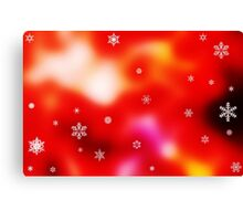 Snowflakes on red background Canvas Print