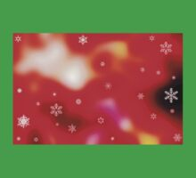 Snowflakes on red background Kids Tee