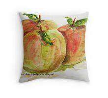 just peachy Throw Pillow