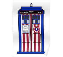 If Capt. America had a TARDIS. Poster