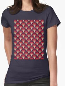 Pattern Retro Style Womens Fitted T-Shirt