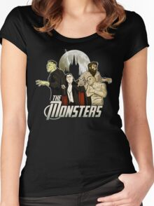 Monsters Assemble Women's Fitted Scoop T-Shirt