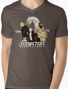 Monsters Assemble Mens V-Neck T-Shirt