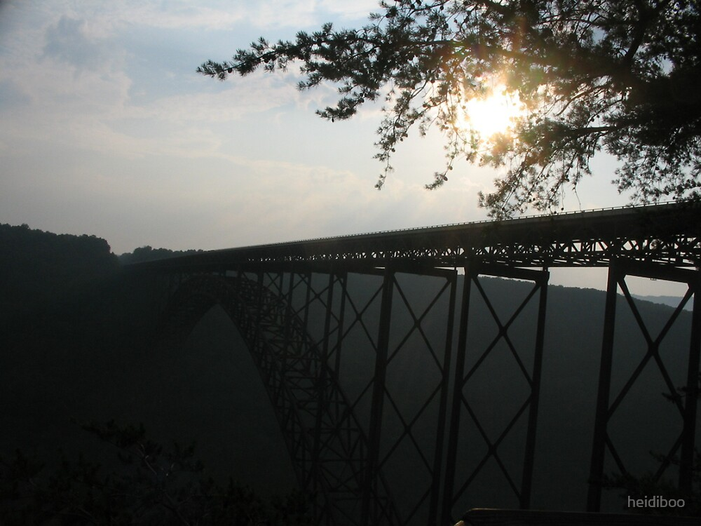 Sunset over a bridge by heidiboo