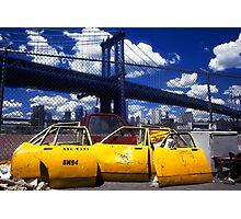 New York Taxi Doors Photographic Print