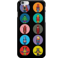 8Bit Marvel Characters iPhone Case/Skin