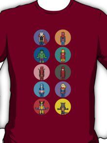 8Bit Marvel Characters T-Shirt