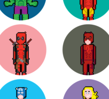 8Bit Marvel Characters Sticker