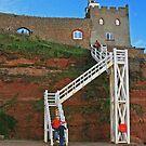 Jacob's Ladder, Sidmouth, Devon by RedHillDigital