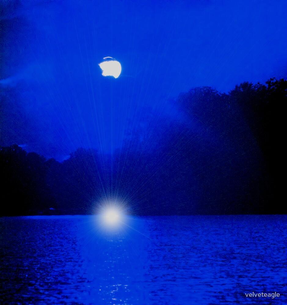 Blue Lagoon Sunset by velveteagle