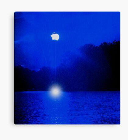 Blue Lagoon Sunset Canvas Print