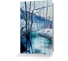 River Hileau in winter Greeting Card
