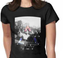 Serenity Of Mt. Triangles Womens Fitted T-Shirt
