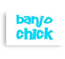 Banjo chick Canvas Print