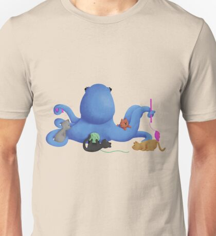 Octopus with Kitty Cats Unisex T-Shirt