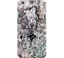 Hysteria, watercolor and ink iPhone Case/Skin