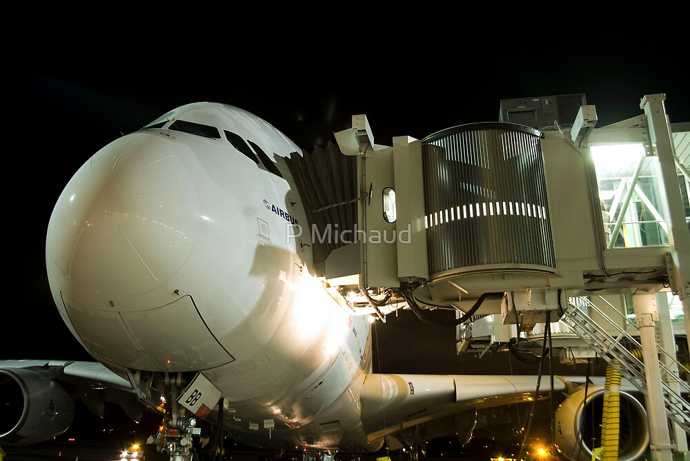 A380 Night  by P Michaud