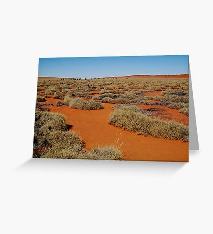 Spinifex Valley, Madigan Line, Simpson Desert Greeting Card