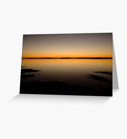 Sunrise, Lake Caroline, North Simpson Desert Greeting Card