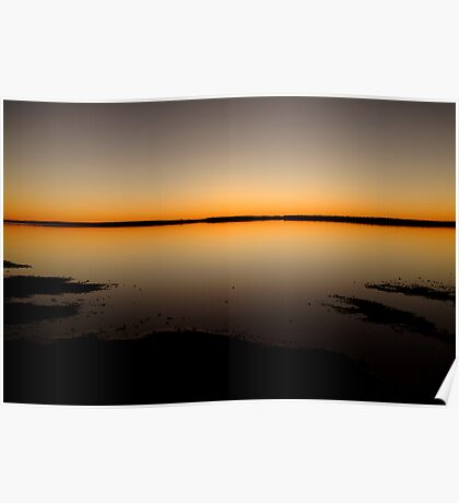 Sunrise, Lake Caroline, North Simpson Desert Poster
