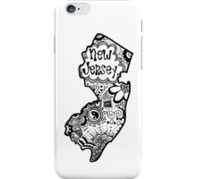 Hipster New Jersey Outline iPhone Case/Skin