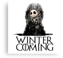 Jack Skellington - Winter is Coming Canvas Print