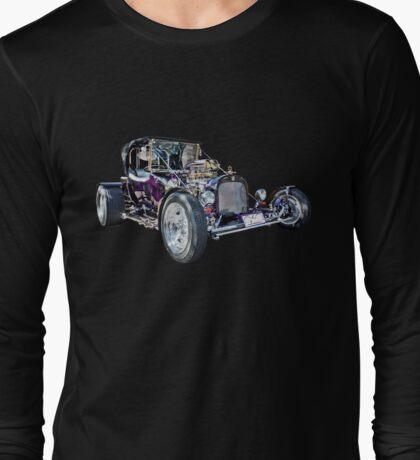 Purple T Bucket Hot Rod Long Sleeve T-Shirt