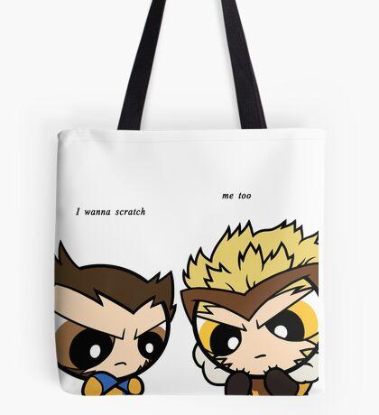 Puff Wolverine & Sabertooth - Xmen Tote Bag